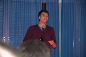 Fabian Molina während seiner Rede