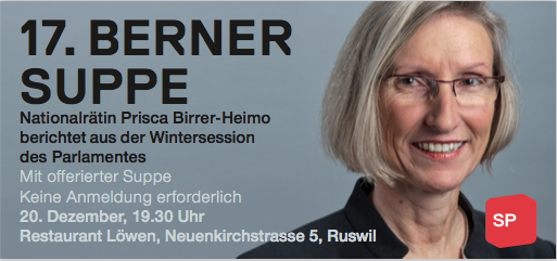 Berner Suppe in Ruswil mit Prisca Birrer-Heimo